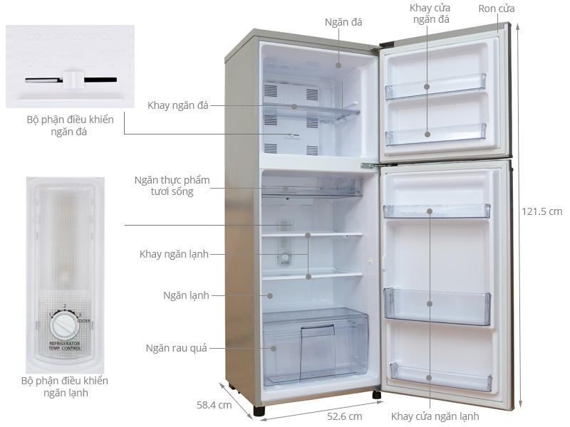 Thông số kỹ thuật Tủ lạnh Panasonic 188 lít NR-BM229 SSVN