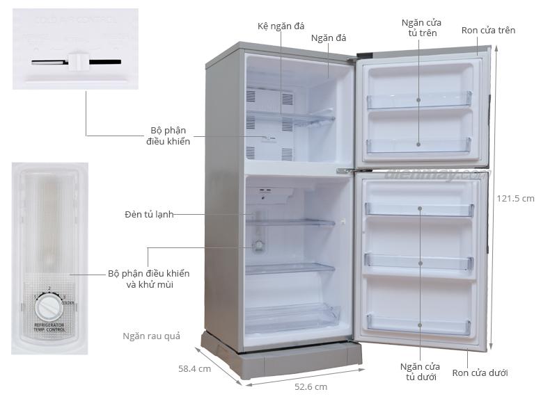 Thông số kỹ thuật Tủ lạnh Panasonic 152 lít NR-BJ176