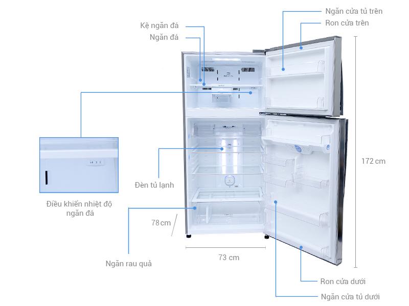 Thông số kỹ thuật Tủ lạnh LG Inverter 458 lít GR-L602S