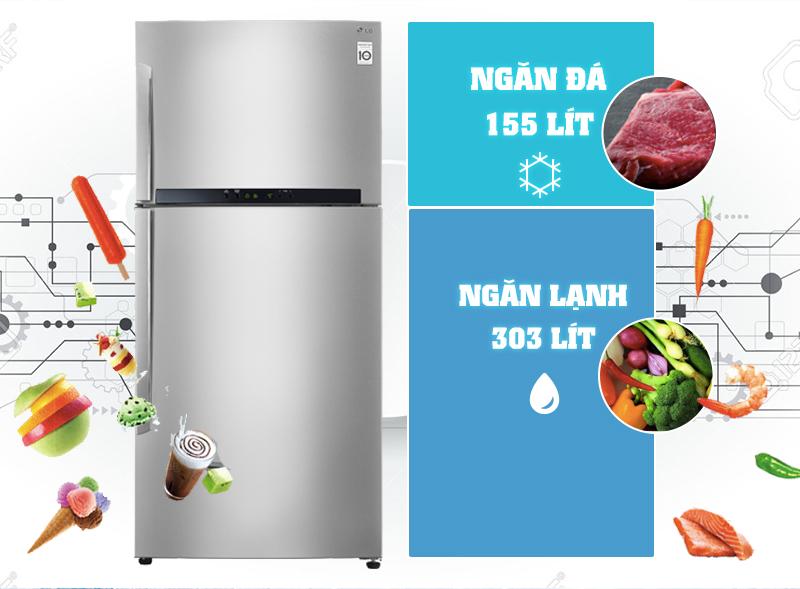 Tủ lạnh LG GR-L602S có công nghệ Inverter cao cấp tiết kiệm điện