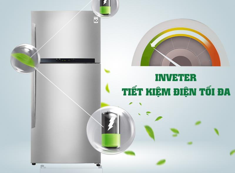 Tủ lạnh LG GR-L602S có máy nén Inverter tiết kiệm điện năng cao