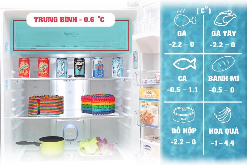 Tú lạnh LG GR-L602S với ngăn thịt cá 0 độ đem đến sự bảo quản thực phẩm, đặc biệt là cá và thịt tươi một cách tối ưu