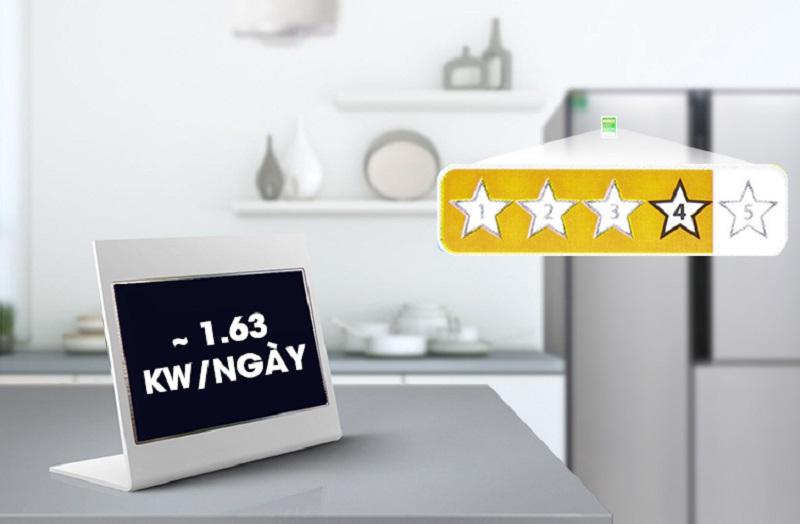 Mỗi ngày, chiếc tủ lạnh này sẽ tiêu thụ khoảng 1.63 kW điện