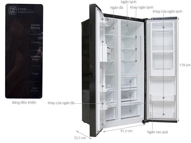 Thông số kỹ thuật Tủ lạnh LG 629 lít GR-R267LGK