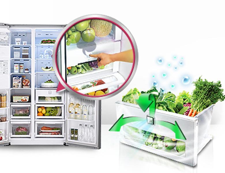 Ngăn rau quả kín hơi bảo quản rau củ tươi lâu
