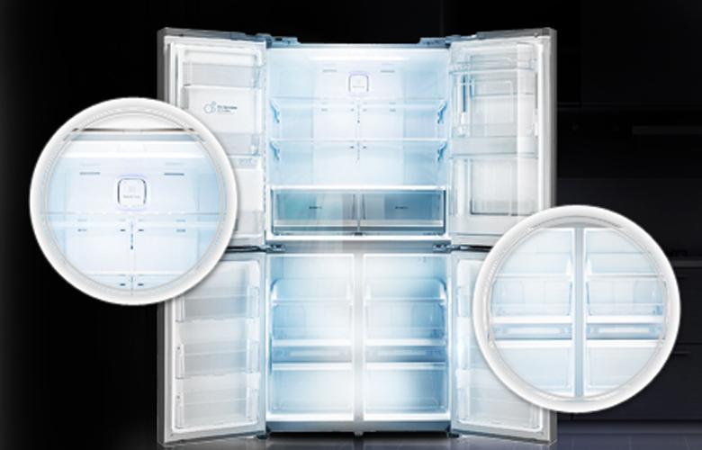 Công nghệ Inverter và tháp đèn LED giúp tủ lạnh tiết kiệm điện