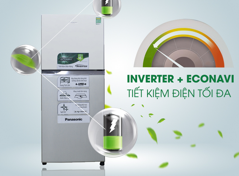 Tiết kiệm điện hiệu quả với công nghệ Inverter và Econavi mạnh mẽ