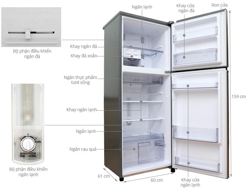 Thông số kỹ thuật Tủ lạnh Panasonic 271 lít NR-BL307 PSVN