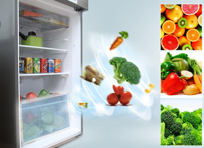 Ngăn rau quả giữ ẩm tốt, hộp đựng thịt có nắp ngăn mùi tiện lợi