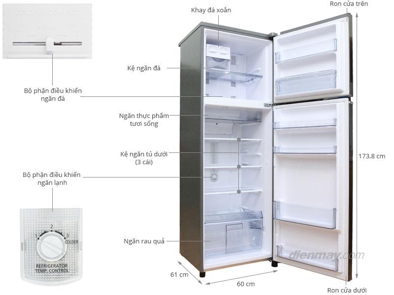 Thông số kỹ thuật Tủ lạnh Panasonic 307 lít NR-BL347