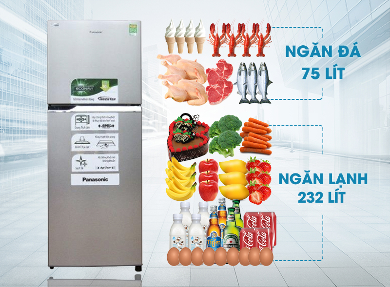 Tủ lạnh Panasonic NR-BL347