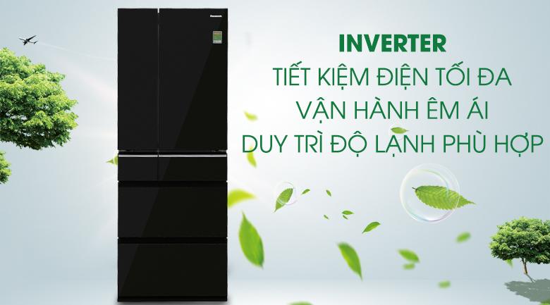 Công nghệ Inverter - Tủ lạnh Panasonic Inverter 489 lít NR-F510GT-X2