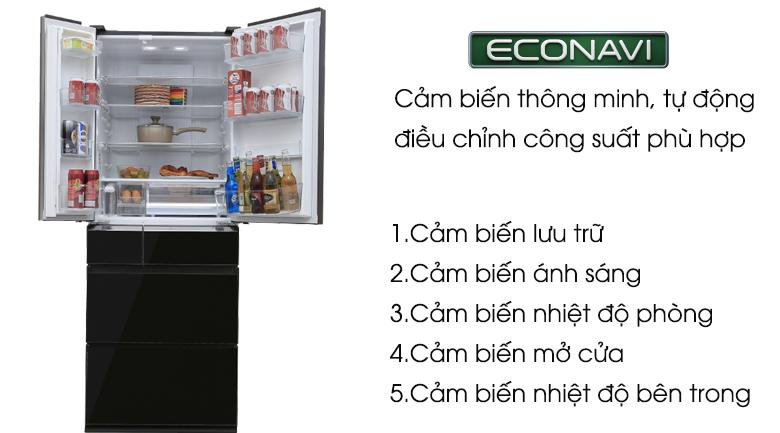 Cảm biến thông minh Econavi - Tủ lạnh Panasonic Inverter 489 lít NR-F510GT-X2