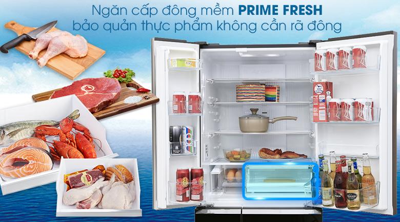 Ngăn cấp đông mềm Prime Fresh - Tủ lạnh Panasonic Inverter 489 lít NR-F510GT-X2