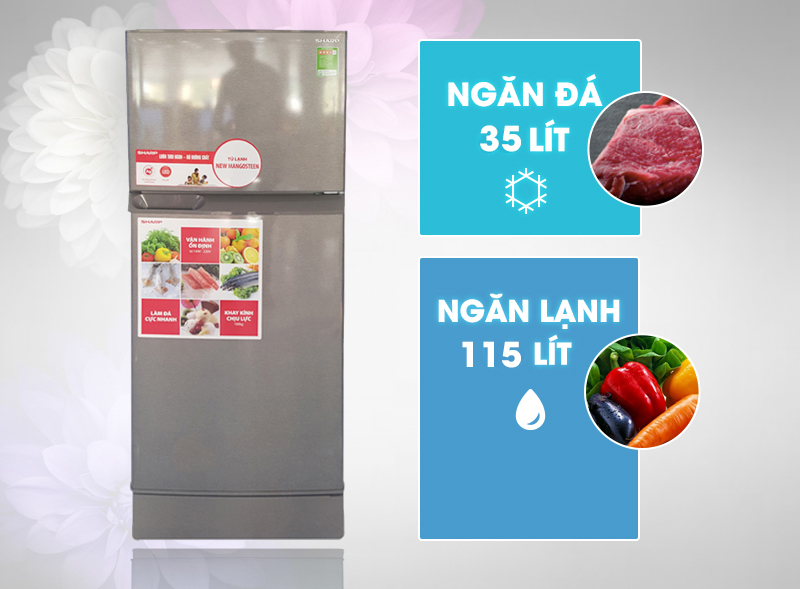 tủ lạnh Sharp 165 lít SJ-171E