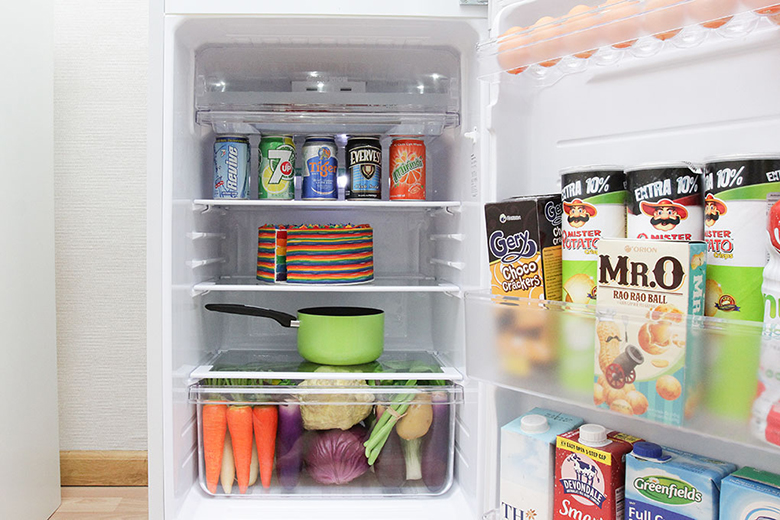 Diện tích trữ thức ăn thoải mái và tiện dụng