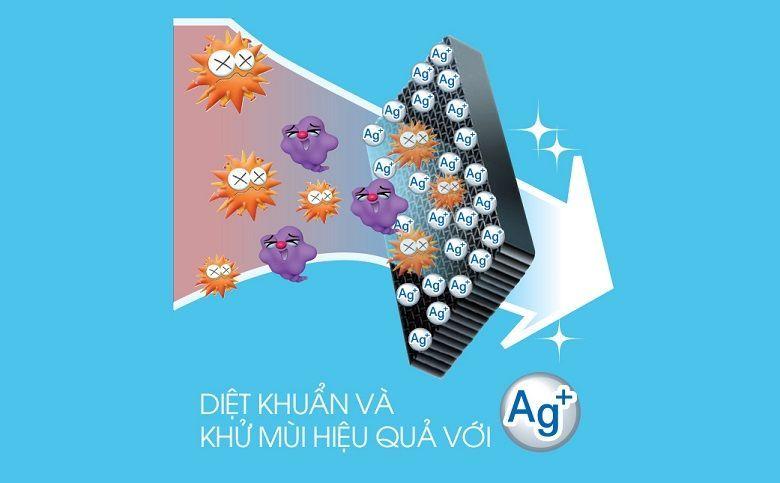 Hệ thống khử mùi phân tử Nano Ag+ khử mùi kháng khuẩn hiệu quả