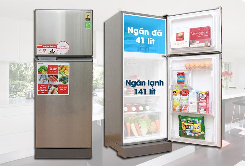 Tủ lạnh Sharp SJ-218P có ngăn đá phía trên