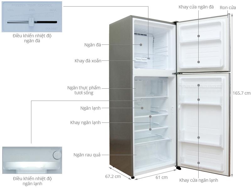 Thông số kỹ thuật Tủ lạnh Sharp 314 lít SJ-X315E