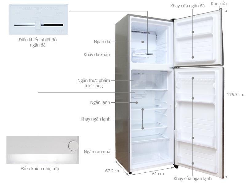 Thông số kỹ thuật Tủ lạnh Sharp 342 lít SJ-X345E
