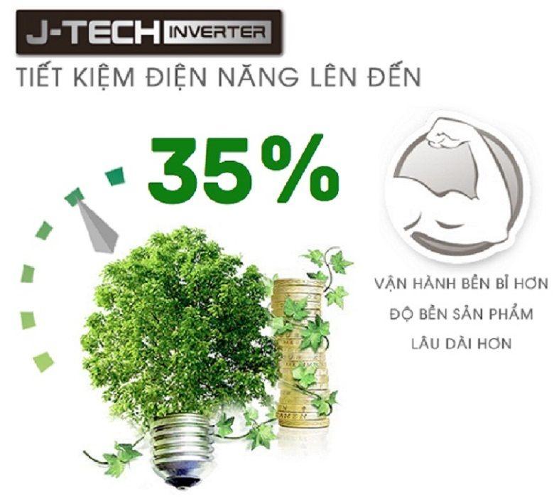 Công nghệ J-Tech Inverter tiết kiệm năng lượng