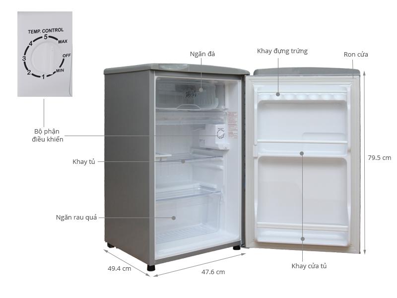 Thông số kỹ thuật Tủ lạnh Aqua 90 lít AQR-95AR