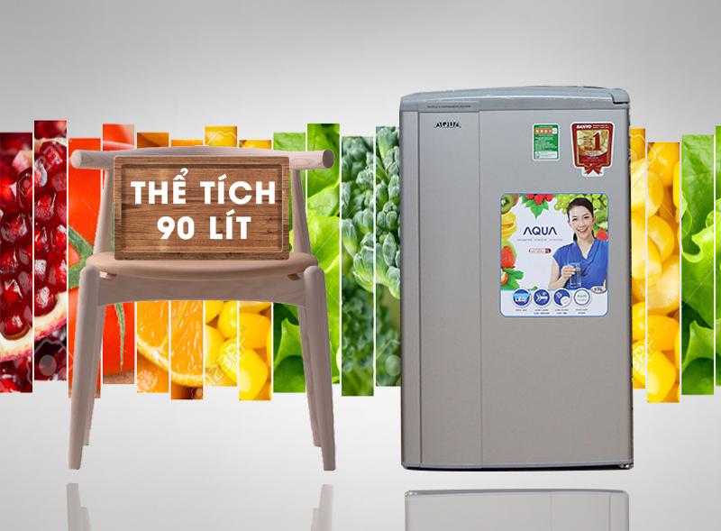 Tủ lạnh Aqua AQR-95AR sở hữu kiểu dáng nhỏ gọn cùng màu sắc nhẹ nhàng mà tinh tế