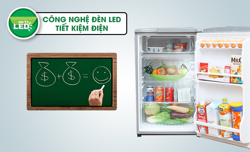 Nhờ cải tiến trong máy móc và công nghệ nên tủ lạnh Aqua AQR-95AR tiết kiệm phần lớn điện năng so với những chiếc tủ lạnh khác