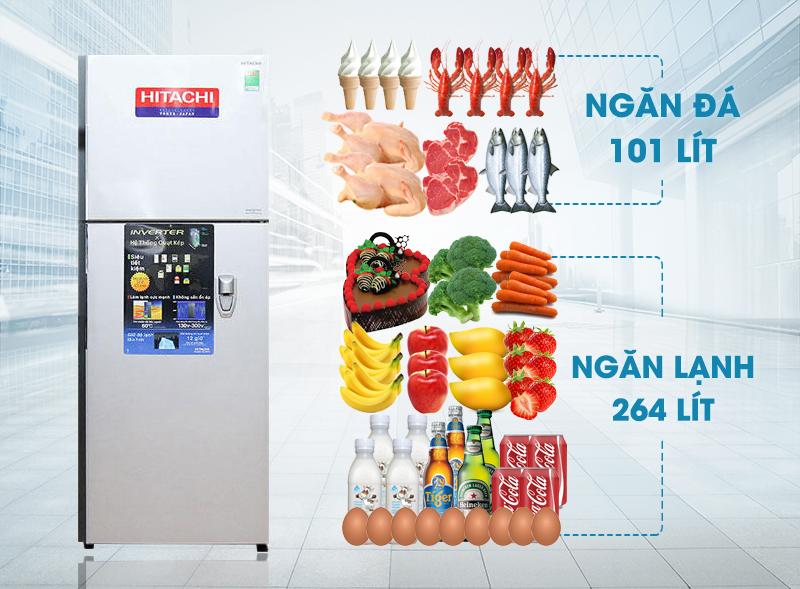 Với thiết kế sang trọng và hiện đại, tủ lạnh Hitachi R-V440PGV3D hứa hẹn sẽ tô điểm sự mới lạ cho căn phòng bếp nhà bạn