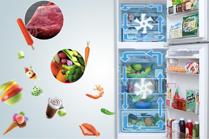 Tủ lạnh Hitachi R-V440PGV3D sở hữu công nghệ làm lạnh quạt kép với hai hệ thống quạt riêng biệt cho hai ngăn