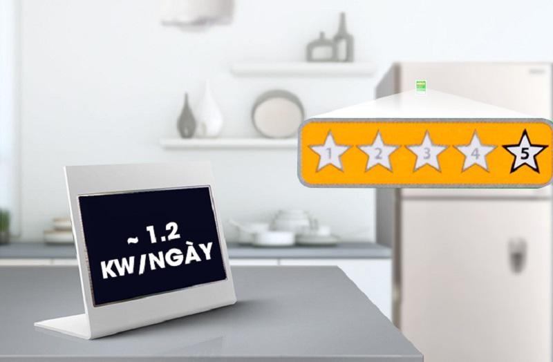 Mỗi ngày, tủ lạnh Hitachi này chỉ tiêu hao khoảng 1.2 kW điện