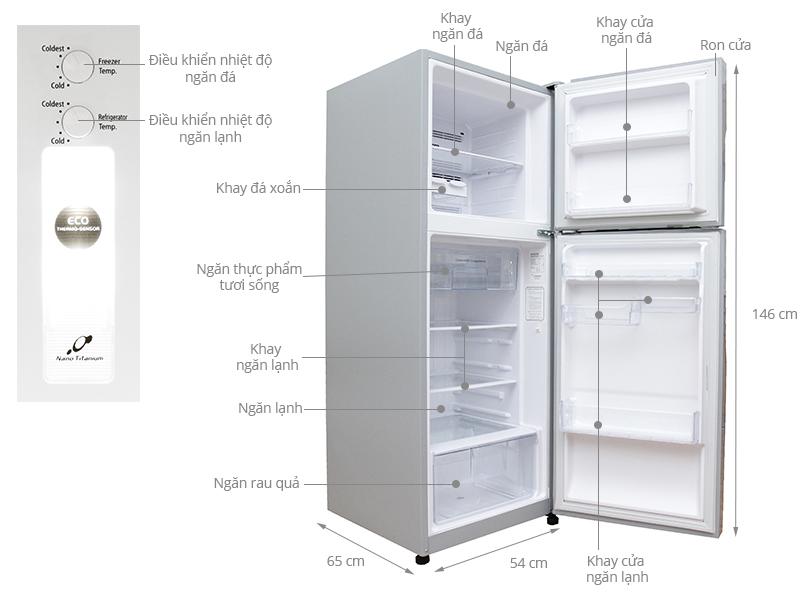 Thông số kỹ thuật Tủ lạnh Hitachi Inverter 203 lít R-H200PGV4