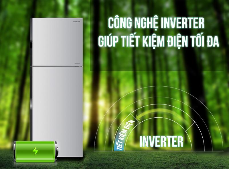 Công nghệ Inverter hiện đại giúp cho tủ lạnh Hitachi R-H200PGV4 có thể giảm đi những lãng phí về điện năng