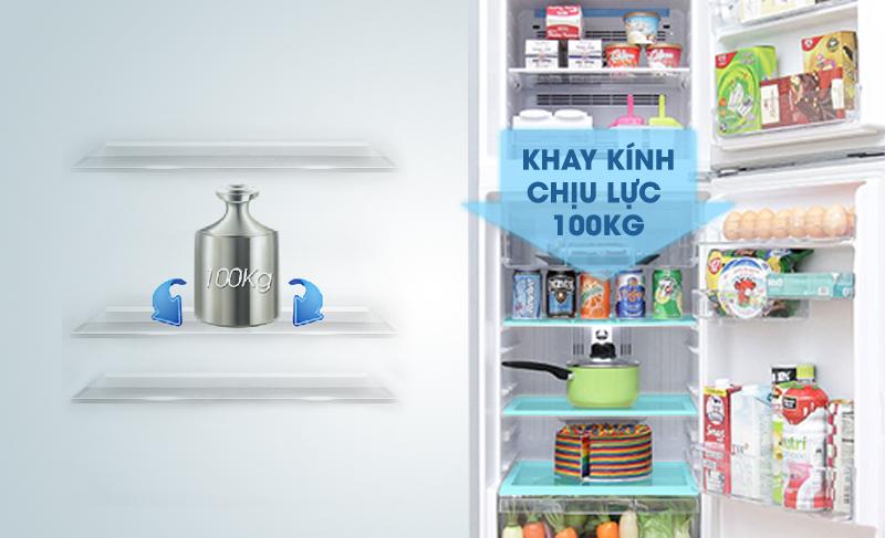 Tủ lạnh Hitachi R-H200PGV4 có khay kính chịu lực được