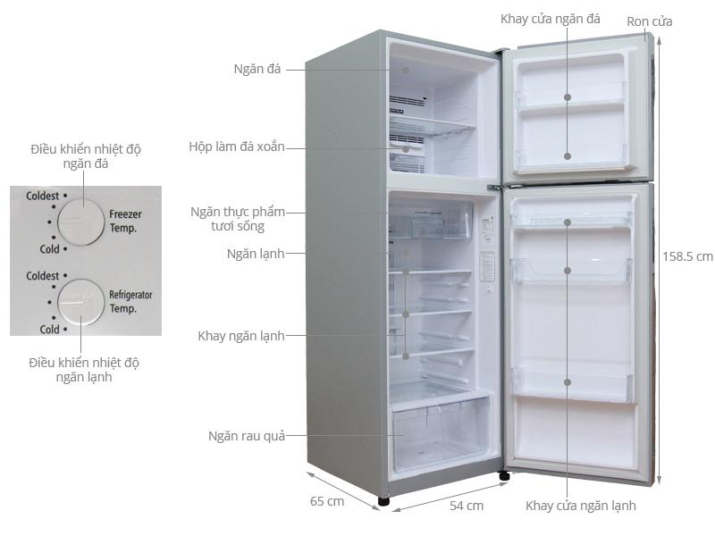 Thông số kỹ thuật Tủ lạnh Hitachi Inverter 230 lít R-H230PGV4