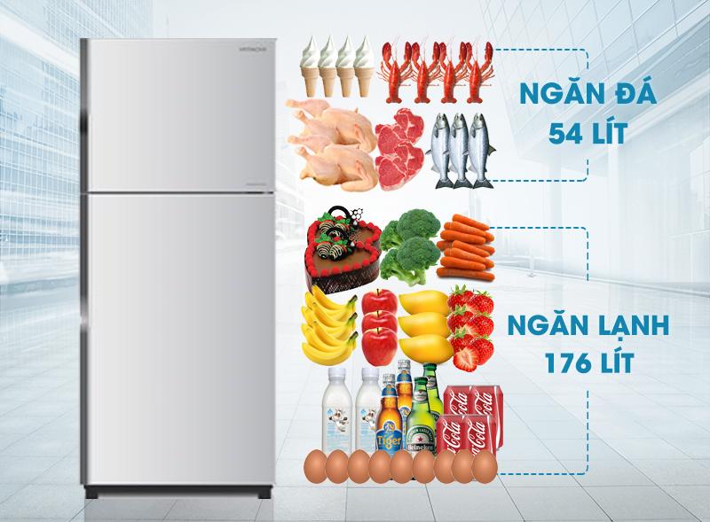Tủ lạnh Hitachi R-H230PGV4 có màu sắc tươi sáng cùng dáng vẻ hiện đại