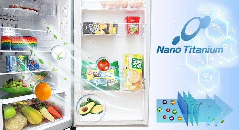 Màng lọc Nano Titanium đem đến cho tủ lạnh Hitachi R-H230PGV4 khả năng kháng khuẩn