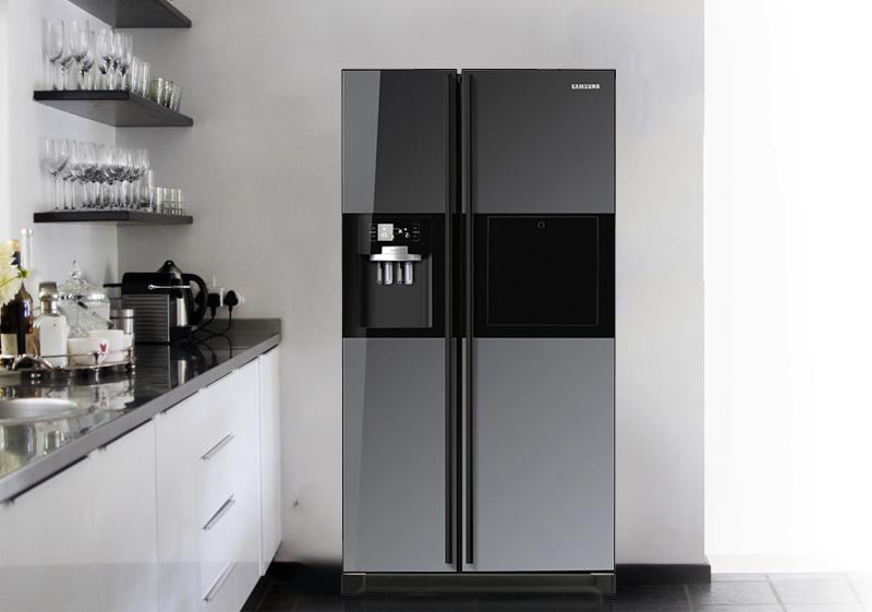Ẩn chứa bên trong thiết kế đầy phong cách và tinh tế của tủ lạnh Samsung RSH5ZLMR1/XSV chính là tay cầm trợ lực thông minh