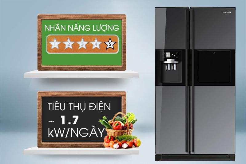 Nhờ các công nghệ hàng đầu, tủ lạnh Samsung RSH5ZLMR1/XSV có khả năng tiết kiệm điện cao
