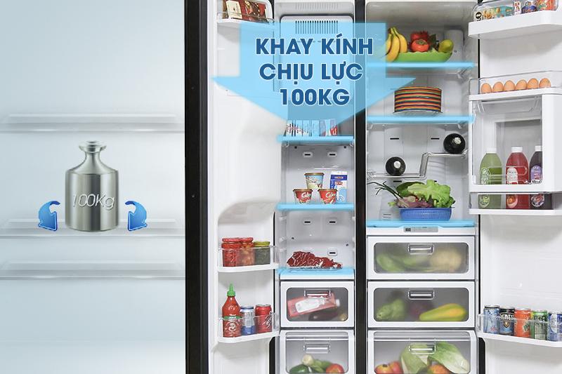 Tủ lạnh Samsung RSH5ZLMR1/XSV có khay kính chịu lực