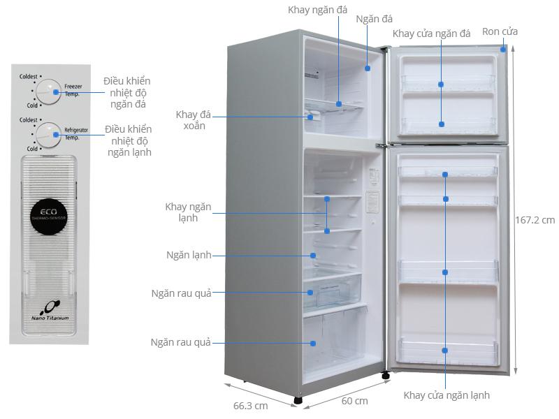 Thông số kỹ thuật Tủ lạnh Hitachi 290 lít R-H350PGV4
