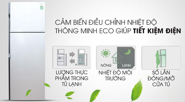Cảm biến nhiệt ECO - Tủ lạnh Hitachi Inverter 290 lít R-H350PGV4 SLS