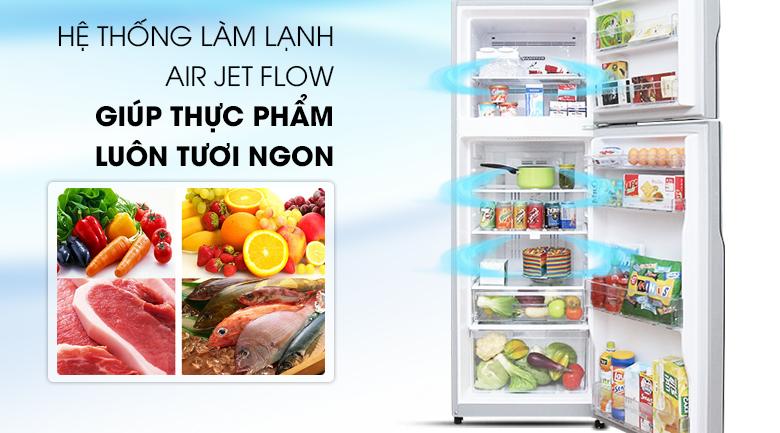 Công nghệ làm lạnh Air Jet Flow - Tủ lạnh Hitachi Inverter 290 lít R-H350PGV4 SLS