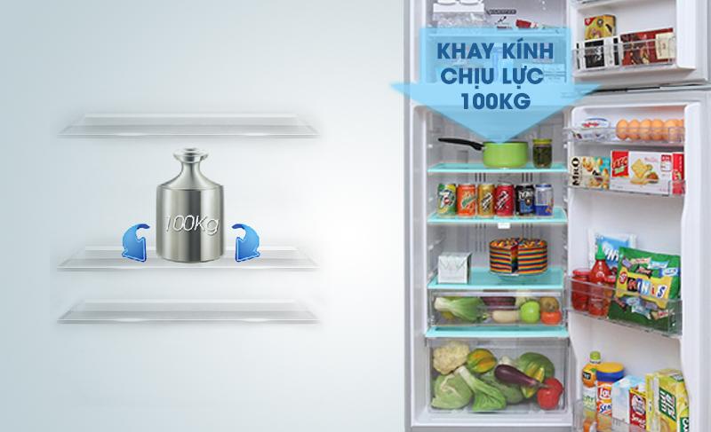 Tủ lạnh Hitachi R-H350PGV4 có khay kính chịu lực