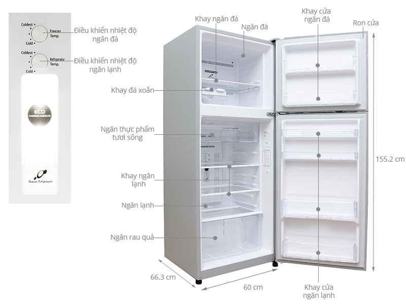 Thông số kỹ thuật Tủ lạnh Hitachi 260 lít R-H310PGV4