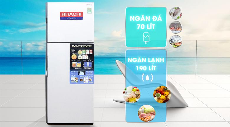 Tủ lạnh Hitachi Inverter 260 lít R-H310PGV4