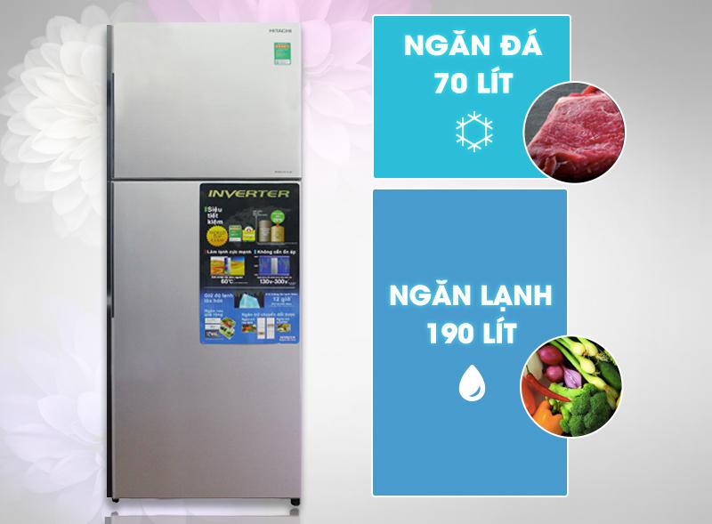 Với thiết kế trang nhã, tủ lạnh Hitachi R-H310PGV4 phù hợp với kiến trúc của nhiều căn nhà hiện nay