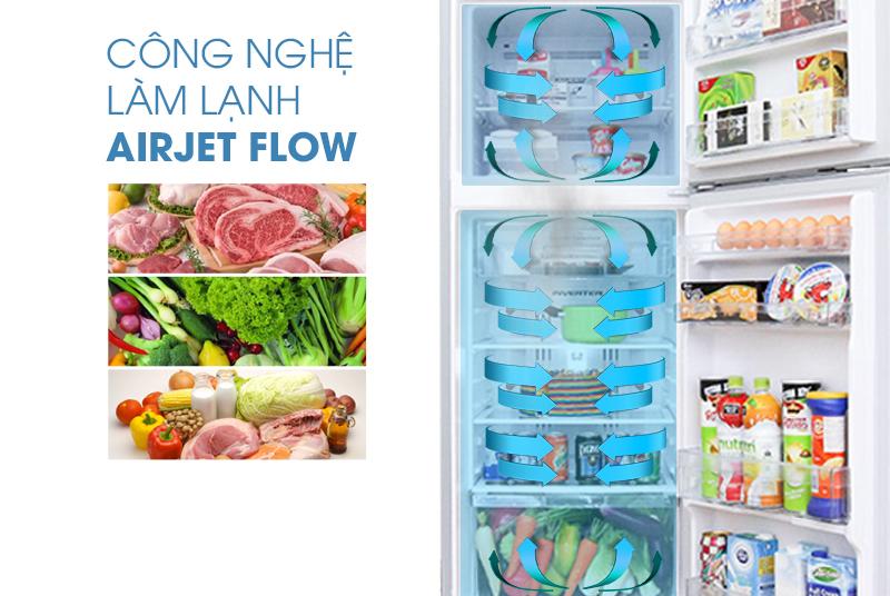 Tủ lạnh Hitachi R-H310PGV4 sở hữu công nghệ làm lạnh Air Jetflow