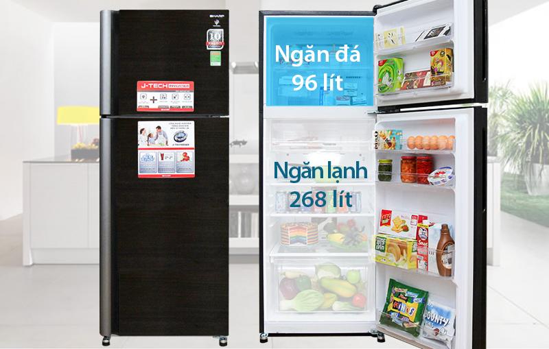 Tủ lạnh Sharp SJ-XP400PG 397 lít