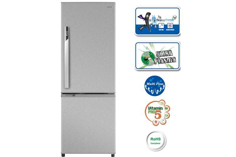 Tủ lạnh thiết kế hiện đại với nhiều tính năng làm lạnh kháng khuẩn hiệu quả
